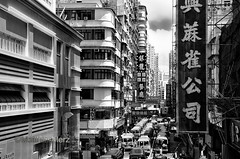 Mini Bus_SDS069220 (camera2m) Tags: city blackandwhite bw hk architecture hongkong mongkok ch