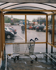 parked#1 (jonny violence yeah?) Tags: rain shopping pentax trolley tesco supermarket carpark p3 p30 pentaxm50mm17 p30d