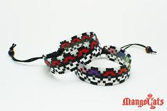 Pokeballs adjustable bracelet (uenkii) Tags: art geek handmade sprite jewelry pixel bracelet pokemon bead cuff unisex hama geeky geekery accessory adjustable pokeball geekchick