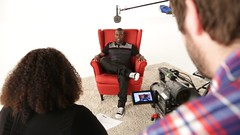 On set with Kevin Hart