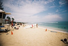 (freeship) Tags: ocean film beach hawaii lomo lomography lifeguard iso 100