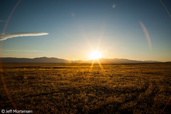 Summer Sunset (jeffmortensen) Tags: sunset field utah warm desert flare jeffmortensen