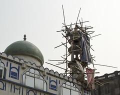 Creative Scaffolding - D7K 4951 ep (Eric.Parker) Tags: india minaret mosque scaffold kolkata bengal calcutta 2012 inida westbengal parkstreet
