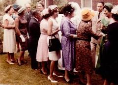 Beckley WV wedding line 1962 color (bmitd67) Tags: wedding westvirginia franceswsanders jamescsanders sandrabelton