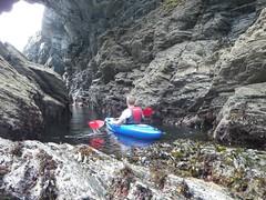 Kayaking from Solva (Rory Francis) Tags: sea holiday rocks kayak canoe kayaking cave canoeing paddling pembrokeshire solva creigiau sirbenfro padlo solfach ceufad