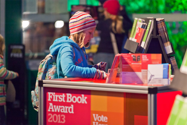 Casting a vote in the Book Festival's First Book Award