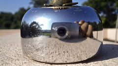 Say Cheese... (niramay joshi) Tags: sony camera shiny mirror bright convex silver smooth surface niramay niramayjoshi cybershot dsc s3000 dscs3000