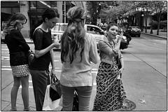 Italian Tourists, Seattle, WA, September 20, 2013 (Maggie Osterberg) Tags: seattle leica bw blackwhite washington carlzeiss maggieo m9p silverefexpro2 zeisscbiogon3528 travelswithmom2013
