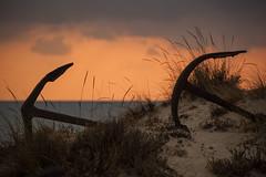barril, cemitrio  de ncoras  .  anchors graveyard  .  dawn (Antnio Alfarroba) Tags: graveyard iron santaluzia anchor cemitrio barril anchors ancora atum armao counterlight antnioalfarroba tunafishtrap