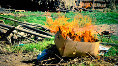 Let the flames begin (Pinedacion94) Tags: grass fire box flames pasto fuego flamas