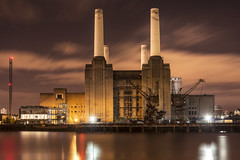 Battersea Power Station, London (inhiu) Tags: uk england building london station night lowlight nikon long exposure factory power urbanexploration battersea d800 urbex inhiu