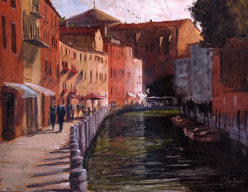 Venice,-Italy,-Along-the-Canal-II