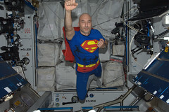 ESA astronaut Luca Parmitano dressed for Halloween (europeanspaceagency) Tags: halloween astronaut superman iss volare internationalspacestation lucaparmitano