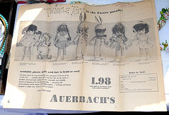 Great vintage ad!!! (DollyBeMine) Tags: boy baby 6 rabbit bunny girl vintage easter toy costume outfit inch dolls ad parade advertisement clothes plastic 1950s rattle mailorder knickerbocker auerbachs twinkletots