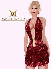 [AMARELO MANGA] - Dress Inai [Red] - 100 L$ (Luana Barzane / CEO [AMARELO MANGA]) Tags: red cosmopolitan dress manga amarelo inaia