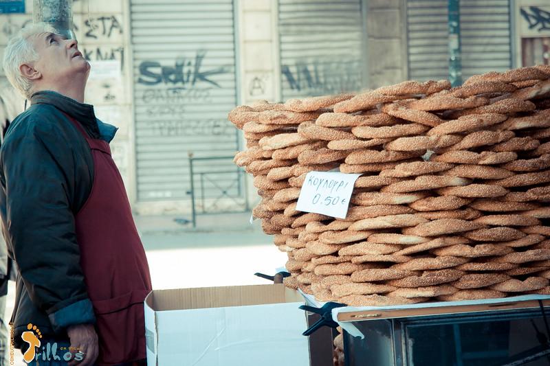 Koulouri - Greek Sesame Bread Rings