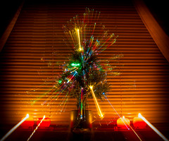 A zooming xmas tree. (CWhatPhotos) Tags: candle candles bright glow glowing display christmastime xmastree christmastree holiday season xmas christmas new year tree lights colored coloured window view photographs photograph pics pictures pic picture image images foto fotos photography artistic cwhatphotos that have which contain canon eos 1740mm 1740 lseries 7d zoom lens color colors colour colours green pine artificial zooming flickr
