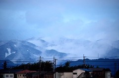 雪山/Snow mountain (koludabone49) Tags: sky cloud japan landscape nikon 日本 雲 山 雪 冬 空 風景 雪山 滋賀 冬山 滋賀県 ニコン d5100