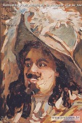 Romualdo Prati Autoritrato in costume olio su tavola 36x23cm Collezione privata