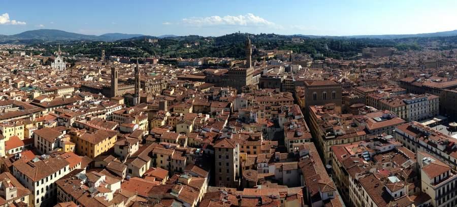 Вид на Флоренцию с колокольни