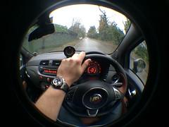 Nice day for a drive. (01101001 01100001 01101110) Tags: 2 oak fiat offshore royal fisheye attachment ii 500 rubens barrichello abarth iphone 5s 595 audemars piguet competizione