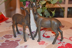Deer (MissLilieDolly) Tags: dcoration de nol christmas decoration suspension hanging guirlande garland boule ball personnage characters figurine figure sapin fir lumineuse tree bright light collection pre santa claus deer biche missliliedolly miss lilie dolly aurelmistinguette