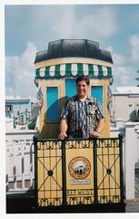 Key West August 2001 (BuccaneerBoy) Tags: ocean travel summer usa lighthouse hot gulfofmexico water train keys fun florida south historic atlantic keywest hemingway atlanticocean floridakeys southernmostpoint