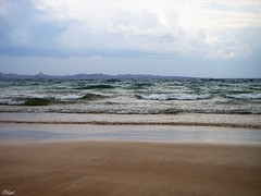 Sea Waves (Mari Rasti) Tags: blue light shadow sea sky cloud mountains cold color nature sand iran gheshm wavespower sonyh50 marirasti