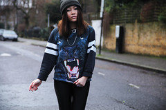 RASSP // I AM PANTHER NO.23 (rassspy) Tags: winter urban london girl fashion animal canon silver photography eos blog sweater outfit rocks baseball cigarette smoke hipster blogger jewellery rainy jumper 5d beanie panther breaking rassp