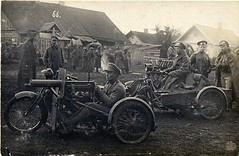"""Motorcycles of the 39th Infantry Regiment, from Tomsk c. 1914-1916 • <a style=""""font-size:0.8em;"""" href=""""http://www.flickr.com/photos/81723459@N04/12433069005/"""" target=""""_blank"""">View on Flickr</a>"""