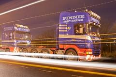 Finnie Heavy Haulage (scottish_photography_productions) Tags: england night photography scotland long glasgow cranes 350 heavy load mannheim abnormal scania daf haulage lockerbie immingham 8x4 fhh 6x4 finnie broshuis r620 balwins