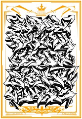 The Wild Alphabet (MR. BURNHUMANZ) Tags: underground de graffiti huelva cream royal crew alphabet graff wildstyle abecedario abdt burnhumanz {vision}:{outdoor}=0963