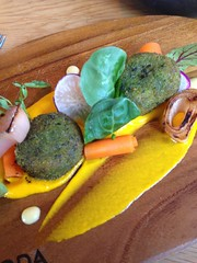 "Crispy pigs head terrrine with parsley crumb, pick;ed carrot, onions and radishes <a style=""margin-left:10px; font-size:0.8em;"" href=""http://www.flickr.com/photos/30579997@N08/12554923045/"" target=""_blank"">@flickr</a>"