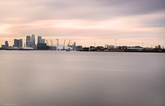 _MGL0385hdn (nicolas casana) Tags: longexposure sunset seascape london thames river out skyscape landscape photography official time outdoor o2 arena national wharf geography canary geographic londonist