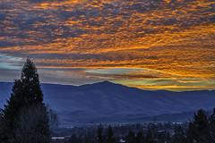 Ashland, Oregon sunrise (acase1968) Tags: county trees sunset sky orange mountains night oregon lens landscape nikon cloudy 85mm jackson southern nikkor range cascade d600 skywatch f18g