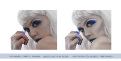 (NPG.) Tags: blue white cold ice girl azul photoshop nude chica makeup fantasy fantasia fotografia frio hielo mua desnudo maquillaje postproduccion