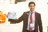 """Head of Policy Analysis, Iván Pineda, shows off EWEA's latest report: """"Saving water with wind energy"""" • <a style=""""font-size:0.8em;"""" href=""""http://www.flickr.com/photos/38174696@N07/13108332244/"""" target=""""_blank"""">View on Flickr</a>"""
