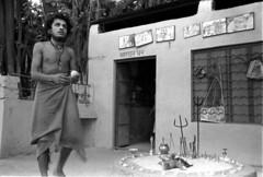 Under the banyan tree (vytautas ambrazas) Tags: india documentary 35mmfilm ilfordhp5plus400 analogphotography baba rajasthan sadhu holyman banyantree travelphotography leicamp dhuni leicasummicronm35mmf2asph underthebanyantree