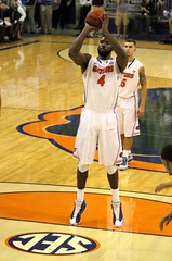 Patric Young made Free Throw Tied Game 63-63 (dbadair) Tags: basketball war university eagle florida gators auburn tigers sec uf 2014