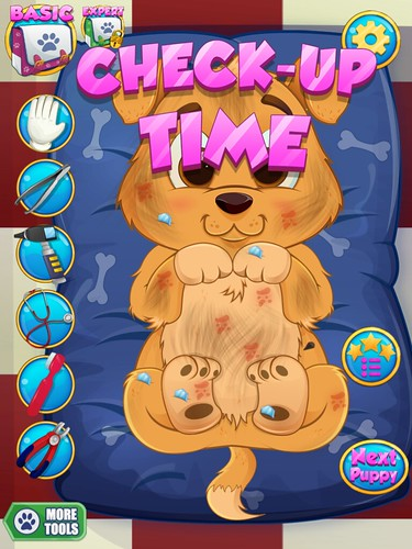 Puppy Doctor Heads-Up Display: screenshots, UI