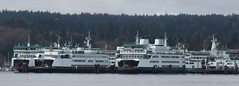 Chetzemoka, Kitsap, Tokitae, Hiyu, Hyak and Tacoma (zargoman) Tags: travel white green water ferry boat highway marine ship maritime transportation pugetsound wsf salishsea washingtonstateferries