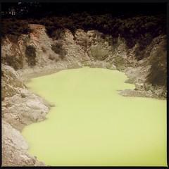 Wai-O-Tapu (Jopper.Photo) Tags: newzealand pool yellow rotorua northisland sulphur taupo volcanic thermal waiotapu thermalwonderland devilsbath thermalexplorerhighway sulphurlake