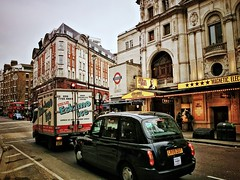 Eskimo ice (Мaistora) Tags: life street city uk winter england urban black color colour london classic tourism sign mobile architecture buildings advertising square design theater day phone traffic theatre cloudy britain cab sony traditional crowd culture cellphone tourist entertainment busy smartphone filter advert signage leicestersquare colourful van process effect z1 postprocess android app edit charingcrossroad crowded bustling maistora photomate xperia snapseed yahoo:yourpictures=weather