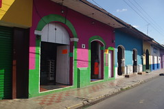 Leon, Nicaragua (ARNAUD_Z_VOYAGE) Tags: street blue sky people house color building cars church colors its car architecture ro america buildings landscape site amazing university view place action political centro colonial nation central churches center historic spanish leon national huge nicaragua intellectual region len department secular centrale chiquito autonomous unan
