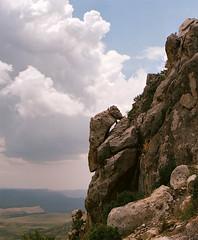 Thunderhead (Procrastixote) Tags: summer mountains west rain clouds canon eos rebel early texas desert hiking g monsoon incoming guadalupe cumulonimbus chihuahuan thewest ektar100