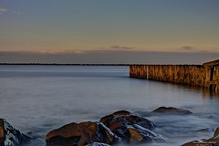 Maasvlakte (Reografie) Tags: wood longexposure sun sunlight water rock ellen rotterdam long smoke nd shutter hdr maasvlakte drift fader platinumheartaward nibbie reografie ndfade10