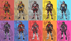 10 Heisei Samurai-Armor Riders (TKatagiri) Tags: illustration armor samurai masked rider kamen heisie