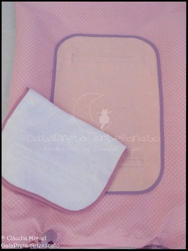 Conjunto tecido bebé A Fada e os pózinhos perlimpimpim lilás19