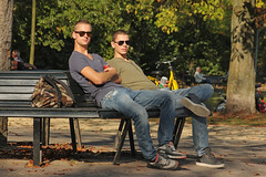 Vondelpark - Amsterdam (Netherlands) (Meteorry) Tags: friends holland cute male guy boys netherlands sunglasses amsterdam army october europe lads candid south nederland hunk sneakers trainers nike jeans baskets soldiers mates vondelpark paysbas sud zuid noordholland mec 2014 meteorry skets nikeairmax90 amsterdampeople flovoroute