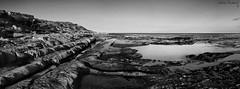 Caprichos de la naturaleza I - Vagaries of the nature I (jmpastorg) Tags: sea blackandwhite bw espaa black byn blancoynegro landscape mar mediterraneo pano paisaje alicante panormica 2016